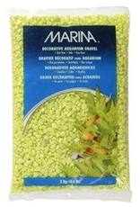 MARINA Marina Aquarium Gravel, Lime-Green,2kg-V