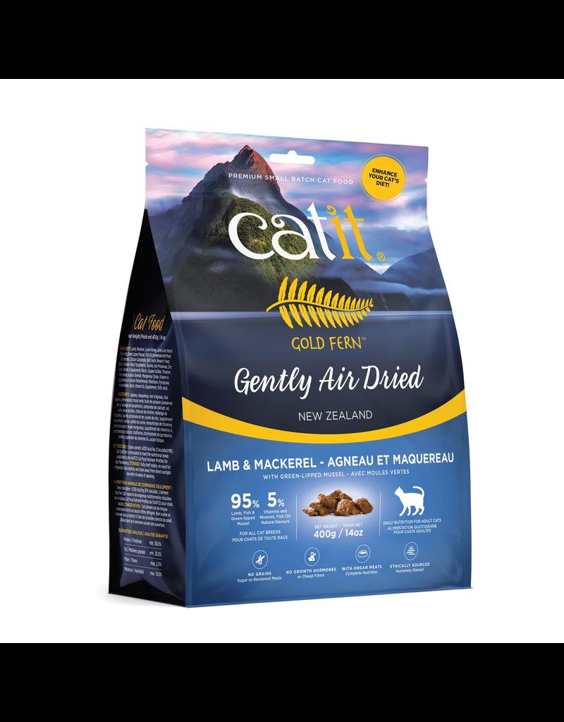 CAT IT Catit Gold Fern Premium Air-Dried Cat Food - Lamb & Mackerel - 400 g (14.1 oz)