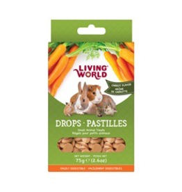 LIVING WORLD LW Small Animal Drops, Carrot, 75g
