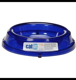 CAT IT (D) Catit Gourmet Overweight Cat Dish - Marine Blue (LC)