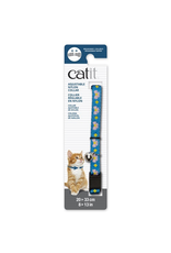 CAT IT Catit Adjustable Breakaway Nylon Collar - Blue with Pink Bows - 20-33 cm (8-13 in)