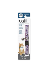 CAT IT Catit Adjustable Breakaway Nylon Collar with Rivets - Pink with Purple Hearts - 20-33 cm (8-13 in)