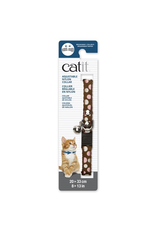 CAT IT Catit Adjustable Breakaway Nylon Collar with Rivets - Brown with Polka Dots - 20-33 cm (8-13 in)