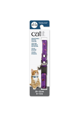 CAT IT Catit Adjustable Breakaway Nylon Collar with Rivets - Purple with Ladybugs - 20-33 cm (8-13 in)