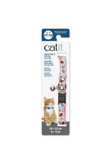 CAT IT Catit Adjustable Breakaway Nylon Collar with Rivets - Pink and White with Ladybugs - 20-33 cm (8-13 in)
