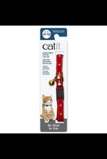 CAT IT Catit Adjustable Breakaway Nylon Collar with Rivets - Red Nautical - 20-33 cm (8-13 in)