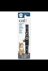 CAT IT Catit Adjustable Breakaway Nylon Collar with Rivets - Blue Nautical - 20-33 cm (8-13 in)