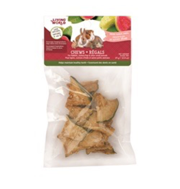 LIVING WORLD Living World Small Animal Chews, Dried Guava Chips, 25 g