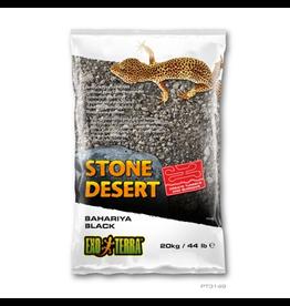 EXO TERRA (W) Exo Terra Stone Desert Substrate - Bahariya Black - 20 kg (44 lbs)
