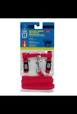 CAT IT CA Aj. Harness and Leash Set, Red, L-V