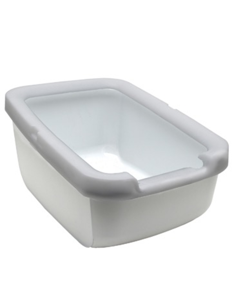 CAT IT Catit Cat Pan with Littershield Rim - Gray - 57 cm L x 39 cm W x 32 cm H (22.4 in x 15.3 in x 12.6 in)