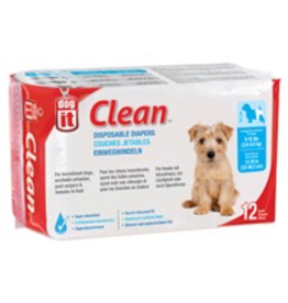 DOG IT Dogit Diapers - Small - 8-15 lbs and waist 13-19 in - 12 pack