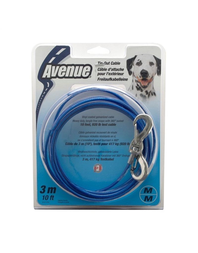 AVENUE Avenue 10 Med Tie Out Cable Blue-V