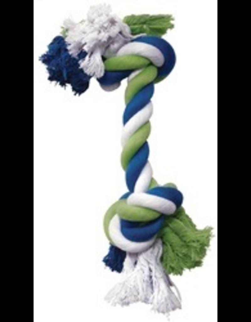 DOG IT DO Blue/Lime/White Cotton Rope Bone,M-V