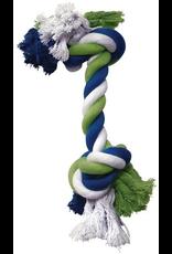 DOG IT DO Blue/Lime/Whte Cotton Rope Bone,XXL-V
