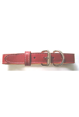 "ARIZONA (D) SINGLE LEATHER STITCHED COLLAR (1"" X 24"") RED"