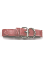 """ARIZONA (D) DOUBLE LEATHER STITCHED COLLAR (1 1/4"""" X 26"""") RED"""