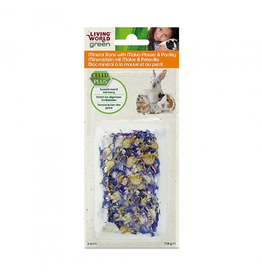 LIVING WORLD (W) Mineral Stone with Malva flower & Parsley 110 g
