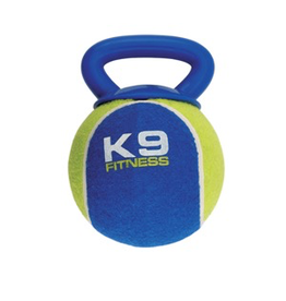 (W) K9 Fitness by Zeus X-Large Tennis Ball with TPR Tug - 12.7 cm dia. (5 in dia.)