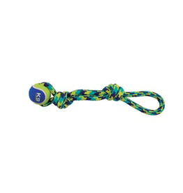 (W) K9 Fitness by Zeus Rope Tug with Tennis Ball - 43.2 cm (17 in)