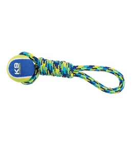(W) K9 Fitness by Zeus Tennis Ball Rope Tug - 23 cm (9 in)
