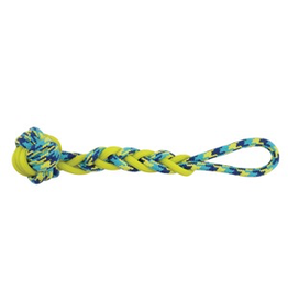 (W) K9 Fitness by Zeus Rope and TPR Ball Tug - 40.64 cm dia. (16 in dia.)