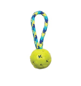 (W) K9 Fitness by Zeus Ball Tug with TPR ball encasing tennis ball - 22.86 cm (9 in)