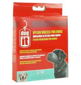 """DOG IT (W) Dogit Nylon Dog Muzzle, Black, Large,18.5 cm/7.3"""""""