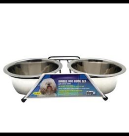 DOG IT (W) ) Dogit SS Double Dog Diner, Medium-V