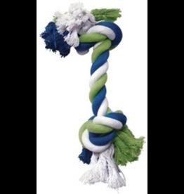 DOG IT (W) DO Blue/Lime/White Cotton Rope Bone,L-V