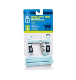 CAT IT (W) CA Aj. Harness and Leash Set, Blue, M-V