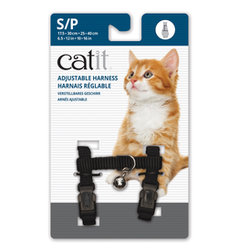 CAT IT (W) Catit Adjustable Nylon Harness - Black - Small
