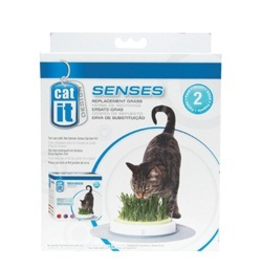 CAT IT (W) CA Des. Senses Grass Garden Refill,2pk