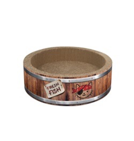 CAT IT (W) Catit Play Pirates Barrel Scratcher with Catnip - Large - 42 cm (16.5 in)