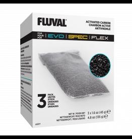 FLUVAL (W) SPEC/ EVO/ FLEX REPLACEMENT CARBON 3-pack