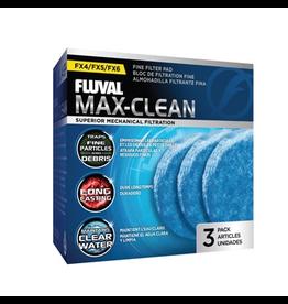 FLUVAL (W) FX4/FX5/FX6 Max-Clean Fine Filter Pads - 3 pack