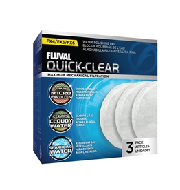 FLUVAL (W) FL FX4/FX5/FX6 Quick-Clear Water Polishing Pads - 3 pack
