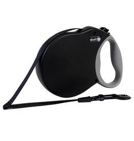 ALCOTT (W) Adventure Retractable Leash - Black - Small