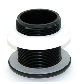 LIFEGARD AQUATICS (W) Standard Threaded Bulkhead - 1-1/2""