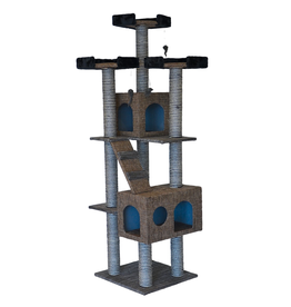 ANIMAL TREASURES (W) Cat Tree Scratcher - Tower - 72""