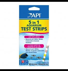 API (W) 5 in 1 Aquarium Test Strips - 4 pk