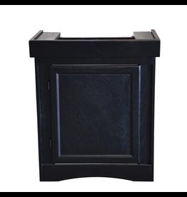 """SEAPORA (W) Monarch Cabinet Stand - Black - 24"""" x 12"""""""