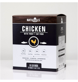 NATURAWLS NatuRAWls Frz Raw Chicken & Trout Cat 24 x 113g