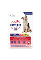 K9 (W) K9 Praventa 360 Flea & Tick Treatment - Large Dogs 11 kg to 25 kg - 3 Tubes