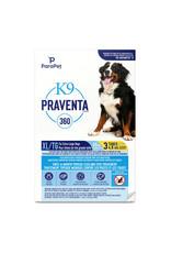 K9 (W) K9 Praventa 360 Flea & Tick Treatment - Extra Large Dogs over 25 kg - 3 Tube