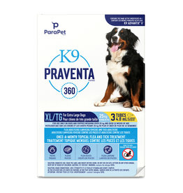 K9 (W) K9 Praventa 360 Flea & Tick Treatment - Extra Large Dogs over 25 kg - 3 Tube