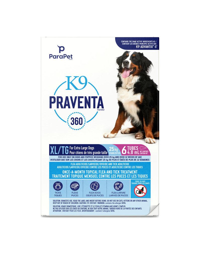 K9 (W) K9 Praventa 360 Flea & Tick Treatment - Extra Large Dogs over 25 kg - 6 Tubes