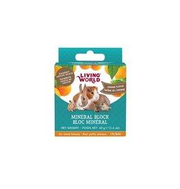 LIVING WORLD LW SmAnimal Mineral Block, Orange, 40g