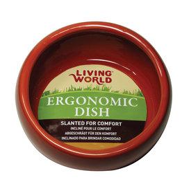LIVING WORLD LW Ergonomic Dish-Terracotta-Sm-V
