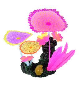 UNDERWATER TREASURES (W) UT Glow Action Bubbling Carpet Coral Garden - Rose